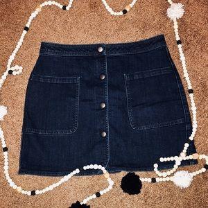Hinge Dark Denim Skirt